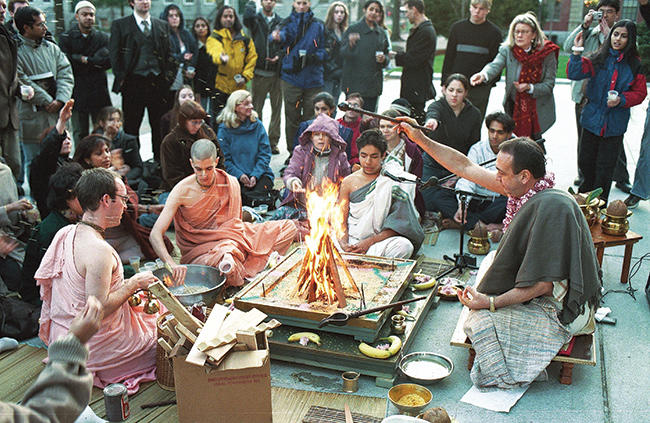 Vedic fire ceremony