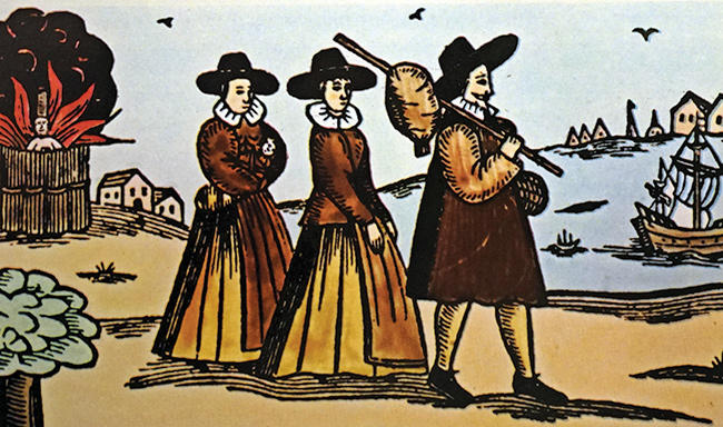 Engraving of Puritans