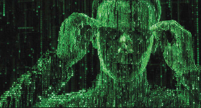 Film still from The Matrix