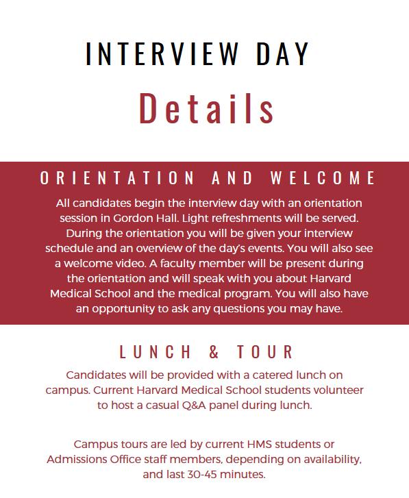Interview Day | Medical Education - Harvard Medical School