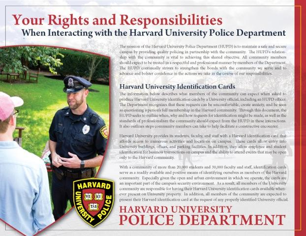 HUPD Rights and Responsibilities
