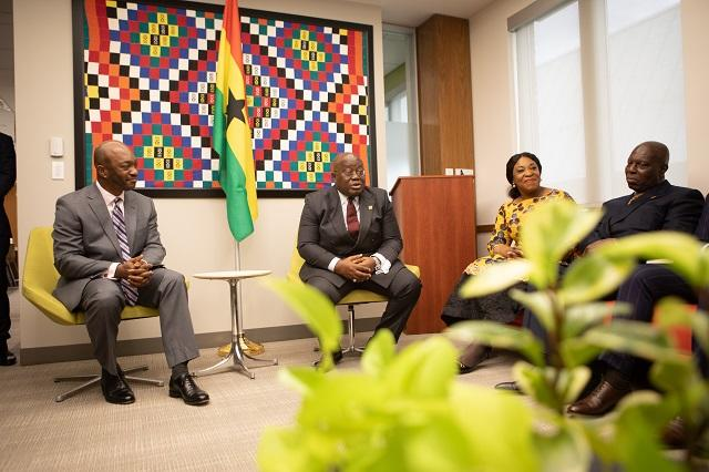 President Akufo-Addo speaking at the Center for African Studies