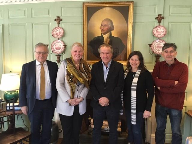 University of Chile delegation in the Wadsworth House parlor with Margot Gill