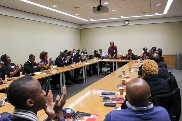 The University Marshal welcomes the Eisenhower Fellows to Harvard