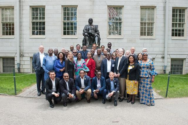 The Ministers at the John Harvard statue
