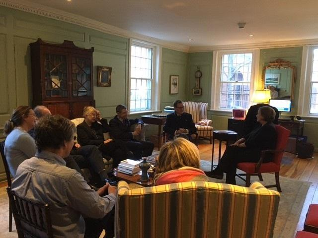 A discussion in the Wadsworth House parlor with the Marshal about innovations in public health