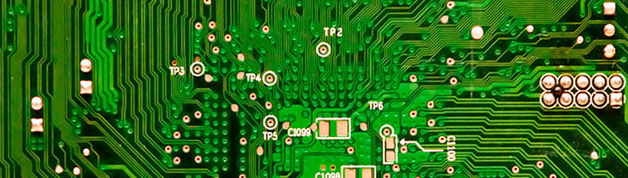 Photograph of computer circuitry