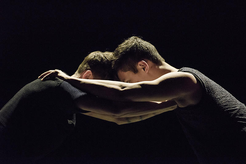 "Joshua Lee '20 and Daniel Rivera '20 in ""WILL"" choreographed by Shamel Pitts. Photo Credit: Liza Voll"