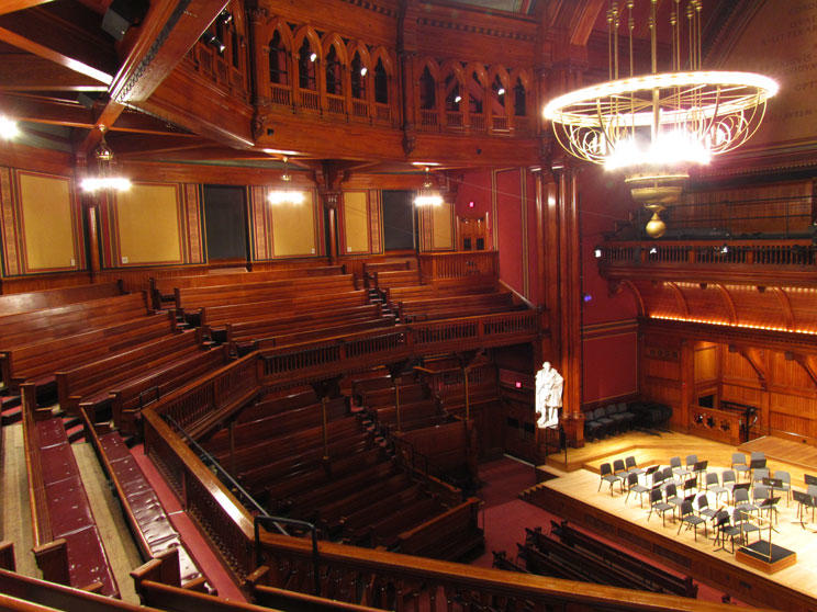 Sanders Theatre Views | Office for the Arts at Harvard