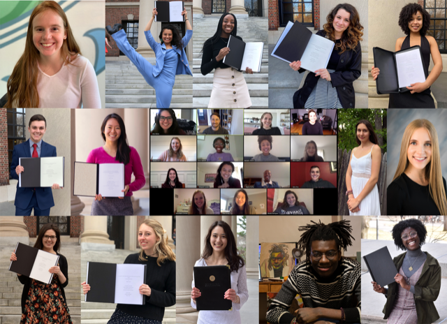 A photo compilation of all our Class of 2020 thesis writers.