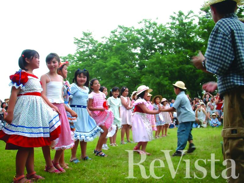 Children frolic at the Brazilian Festa Junina in Moka City, Japan.