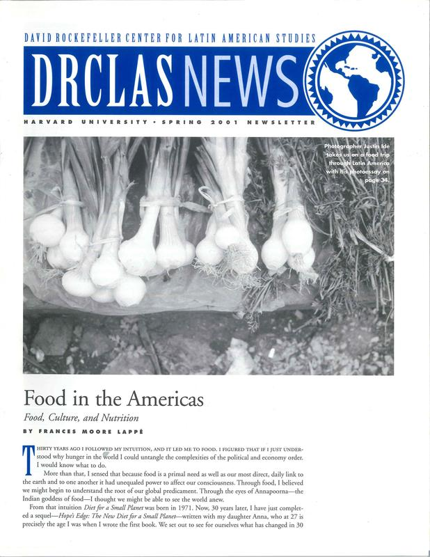 Food In The Americas Food Culture And Nutrition Spring 2001