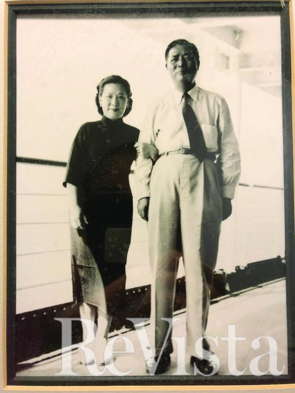 Michael Chu's father and mother on the SS.Boissevan en route to Montevideo (1953)