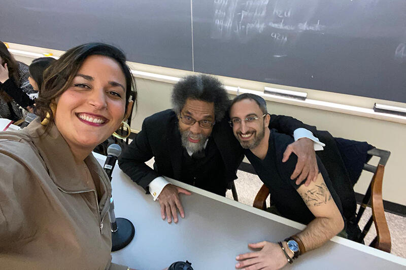 Fellows taking a selfie with Cornel West