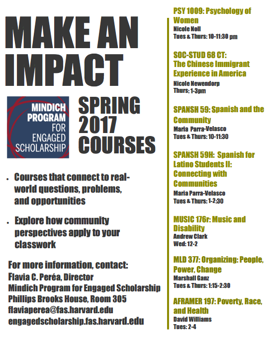 MPES_Spring 2017 Courses Flyer