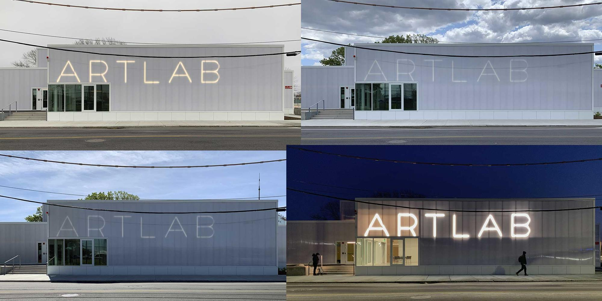Grid of the facade of the ArtLab Building