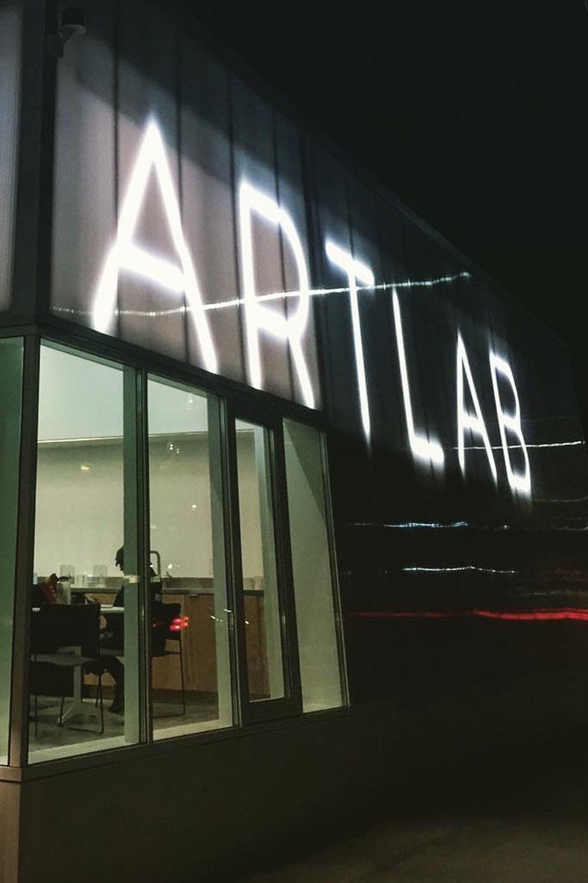 ArtLab Building at Night.