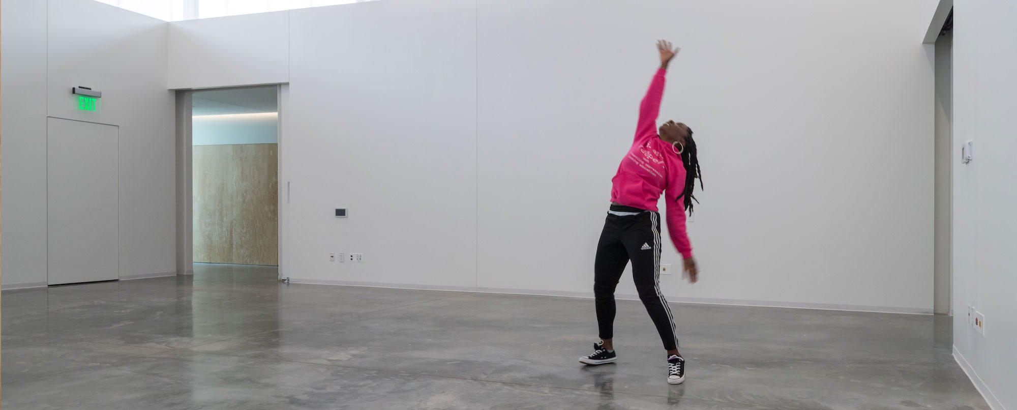 Dancer in the ArtLab space.