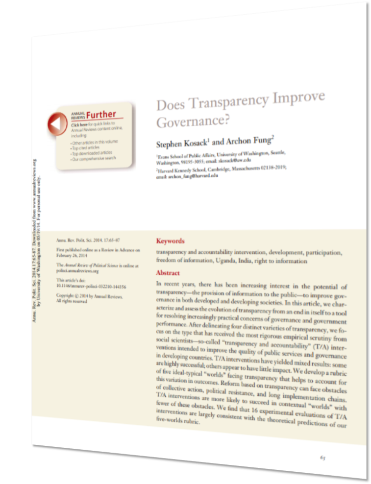 Gov and Transparency