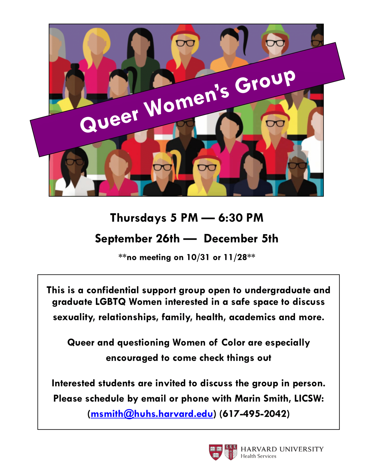 LGBTQ Women's Group flier