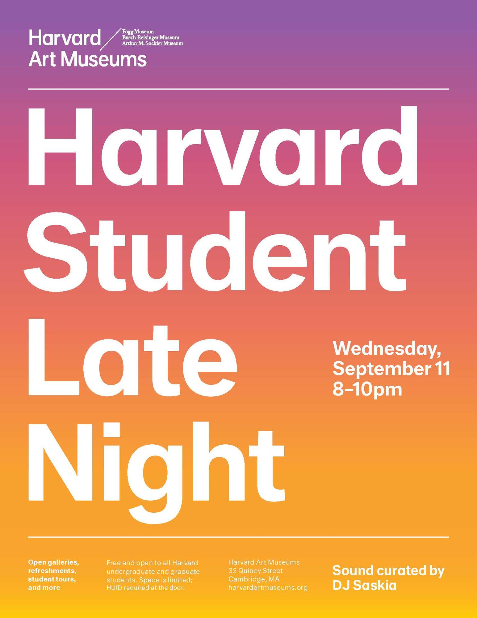 Harvard Student Late Night