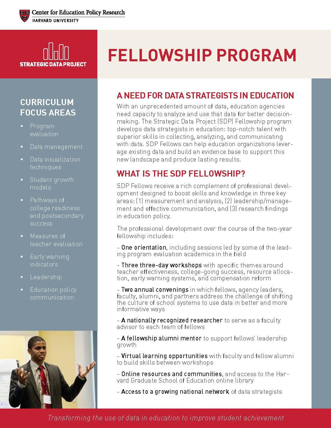 Fellowship program flyer