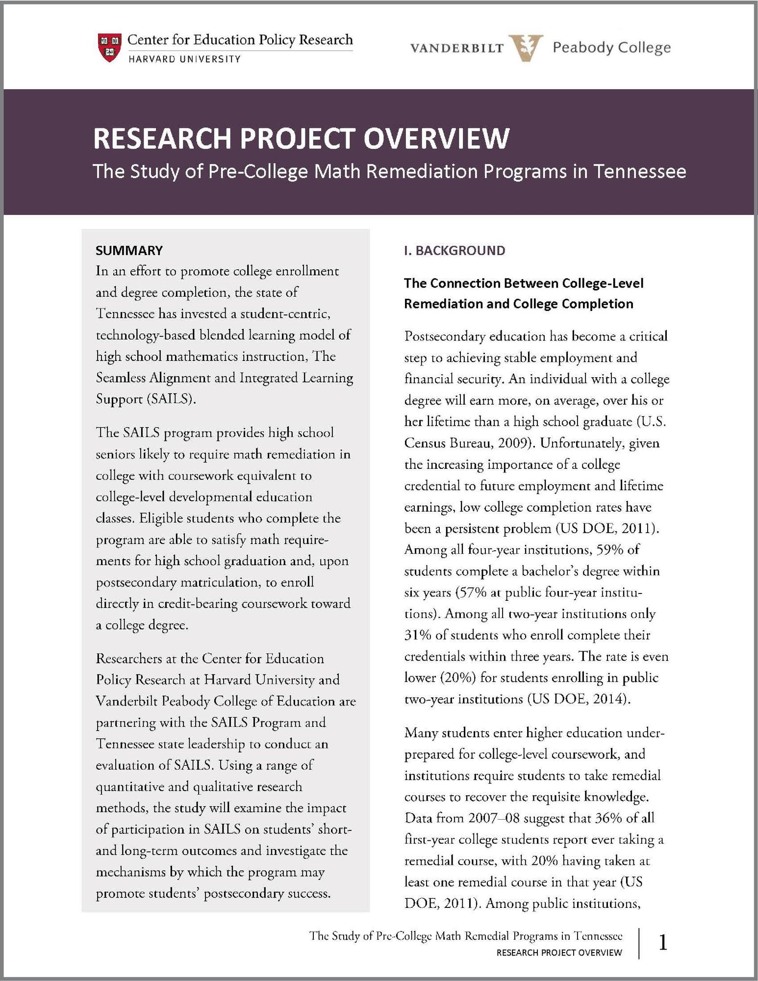 Research Project Overview