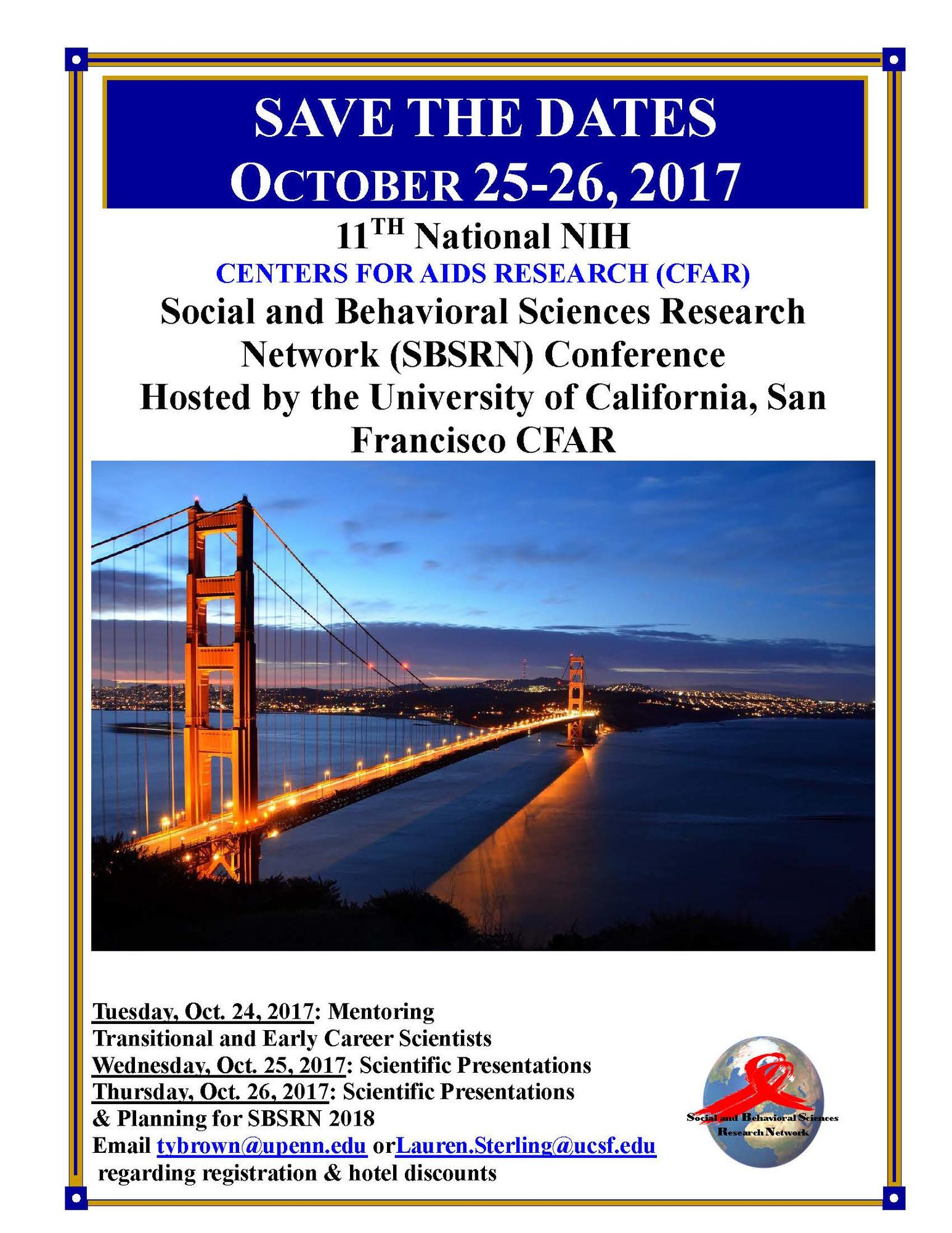 CFAR Social and Behavioral Sciences Research Network (SBSRN