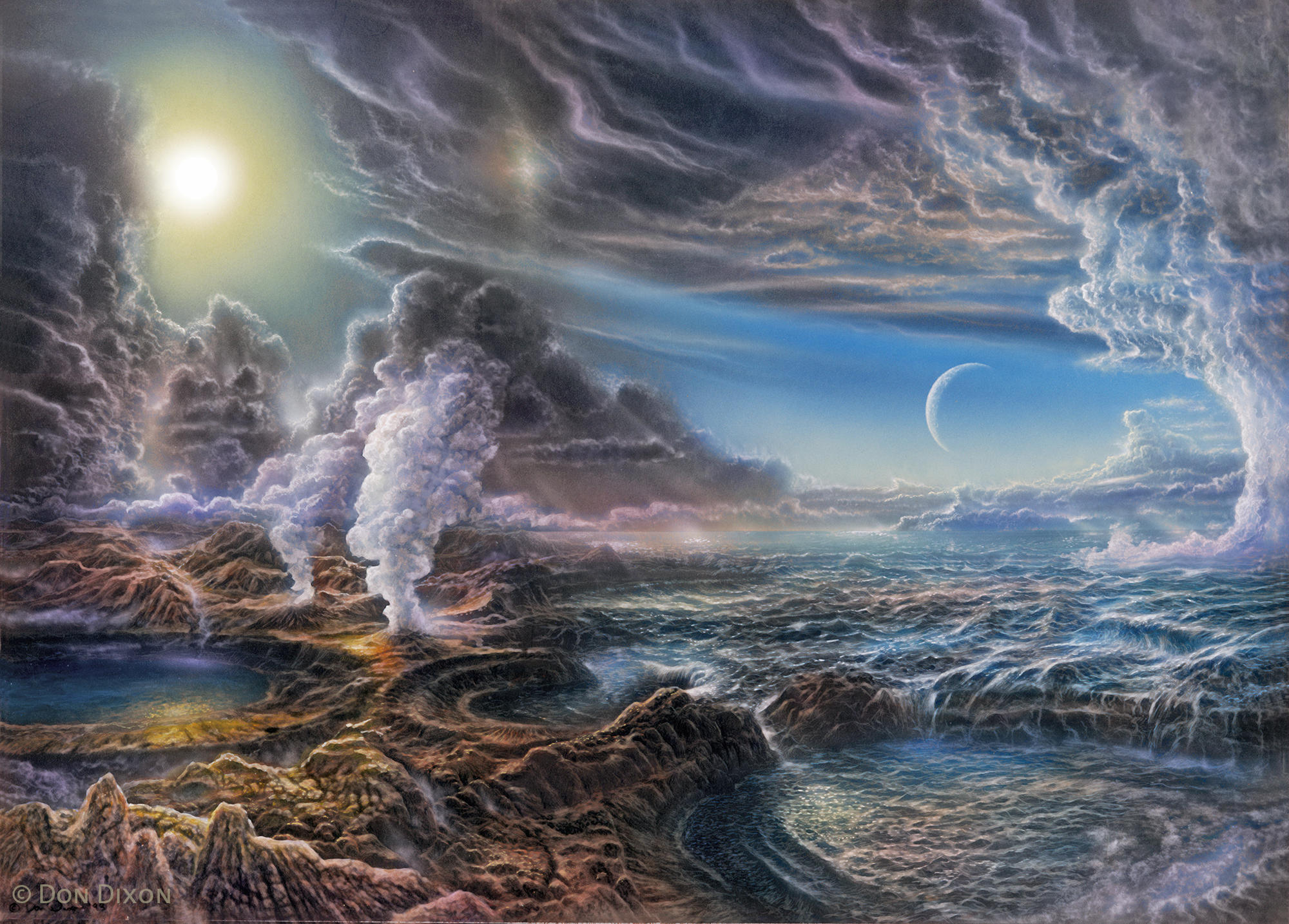 An artist's rendition of early Earth
