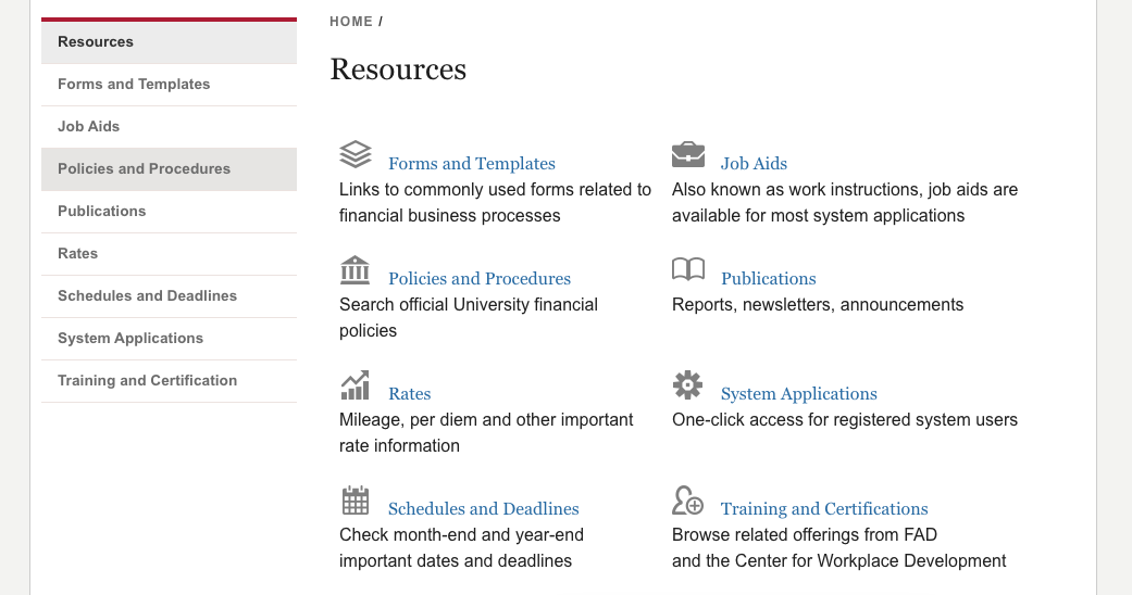 Financial Administration Resources