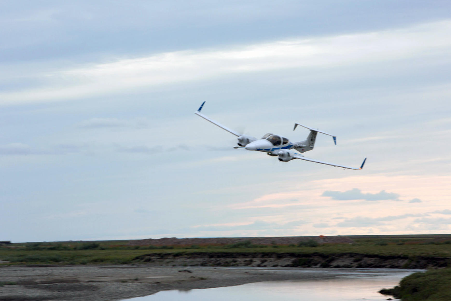 Anderson's airborne eddy-covariance system flies over melting permafrost in Alaska