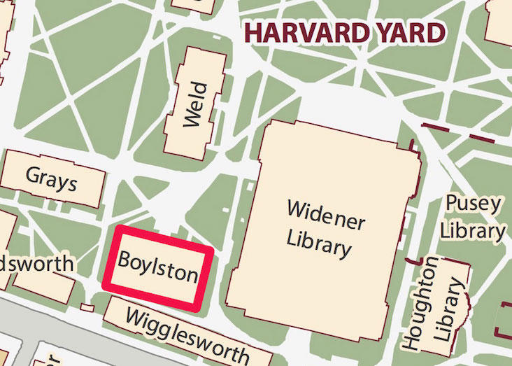 Yard map with Boylston