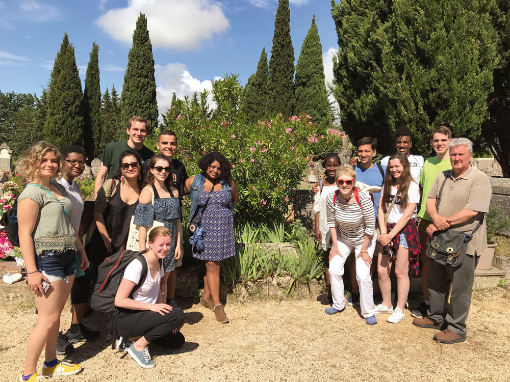 Granara and undergraduates in Aix
