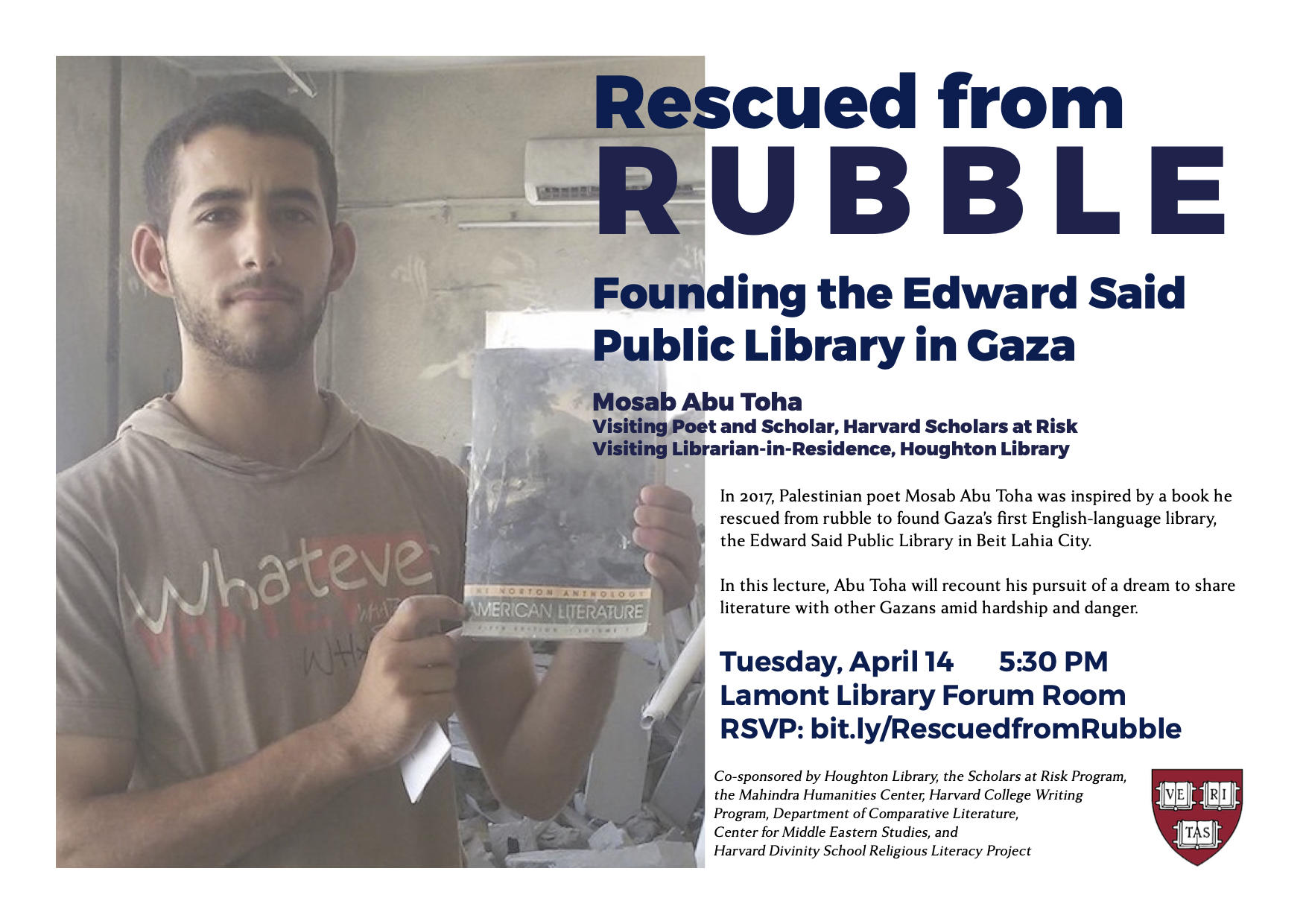 Rescued from Rubble flyer