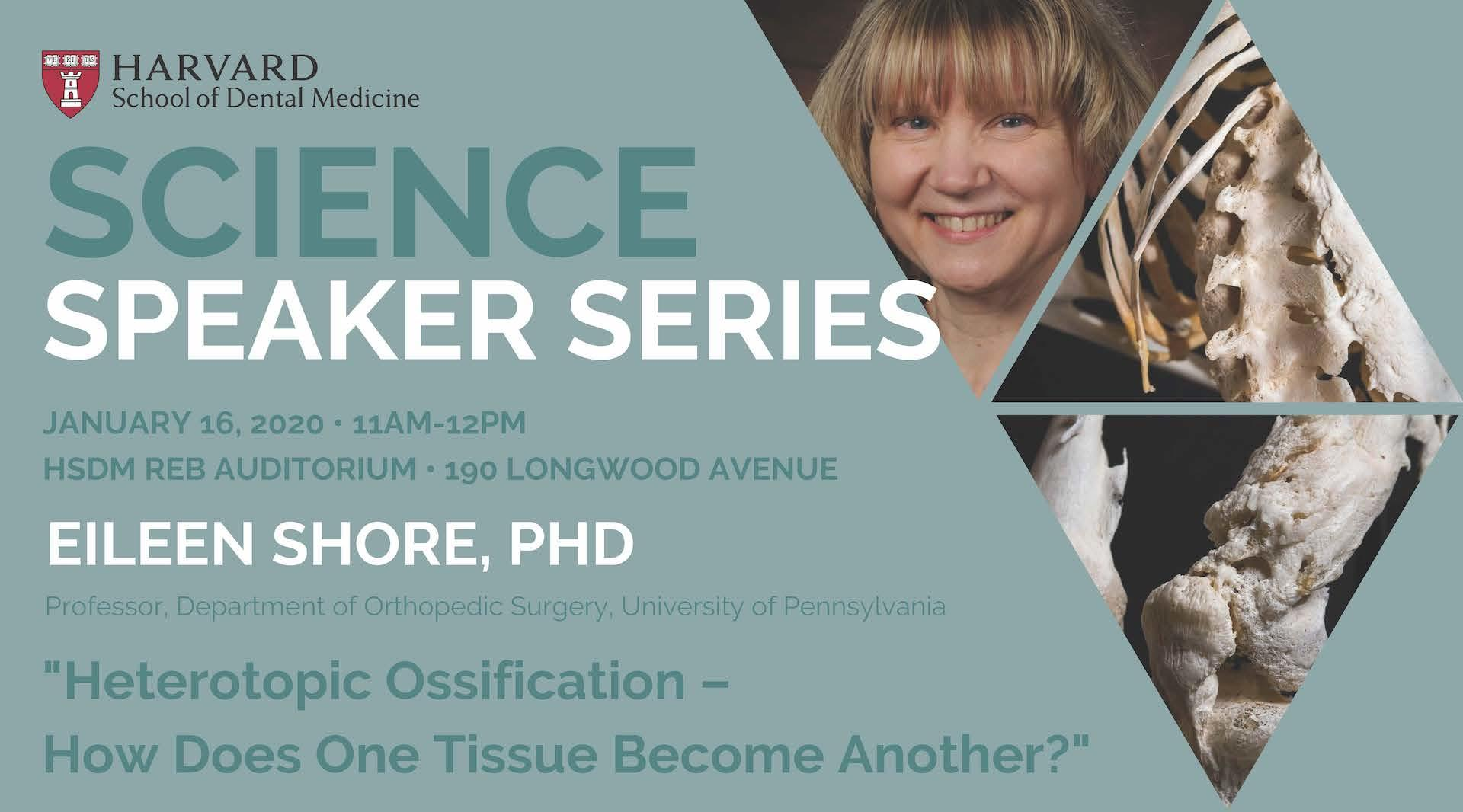 Science Speaker Series: Eileen Shore, PhD, event information