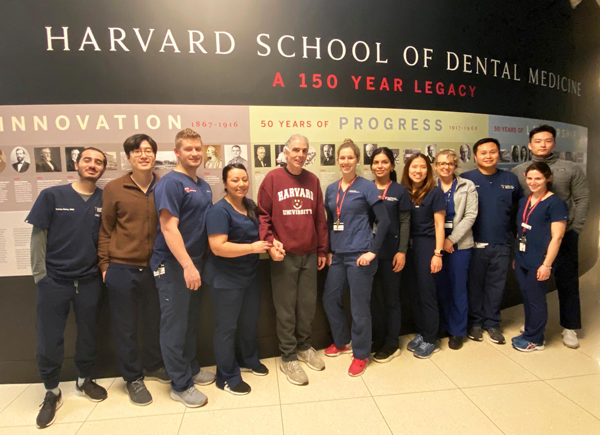 group photo of endodontics faculty and residents
