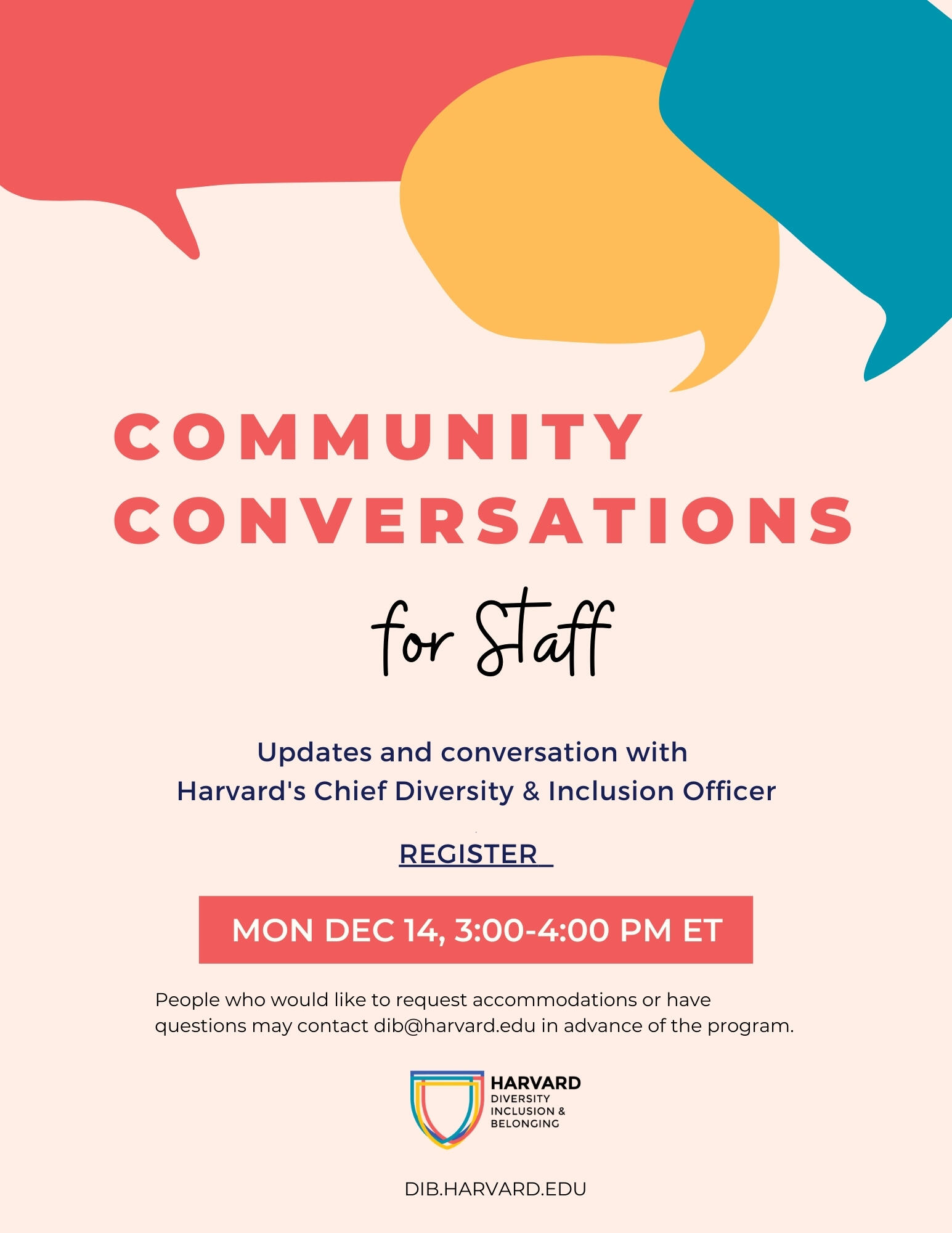 Community Conversations for Staff Flyer
