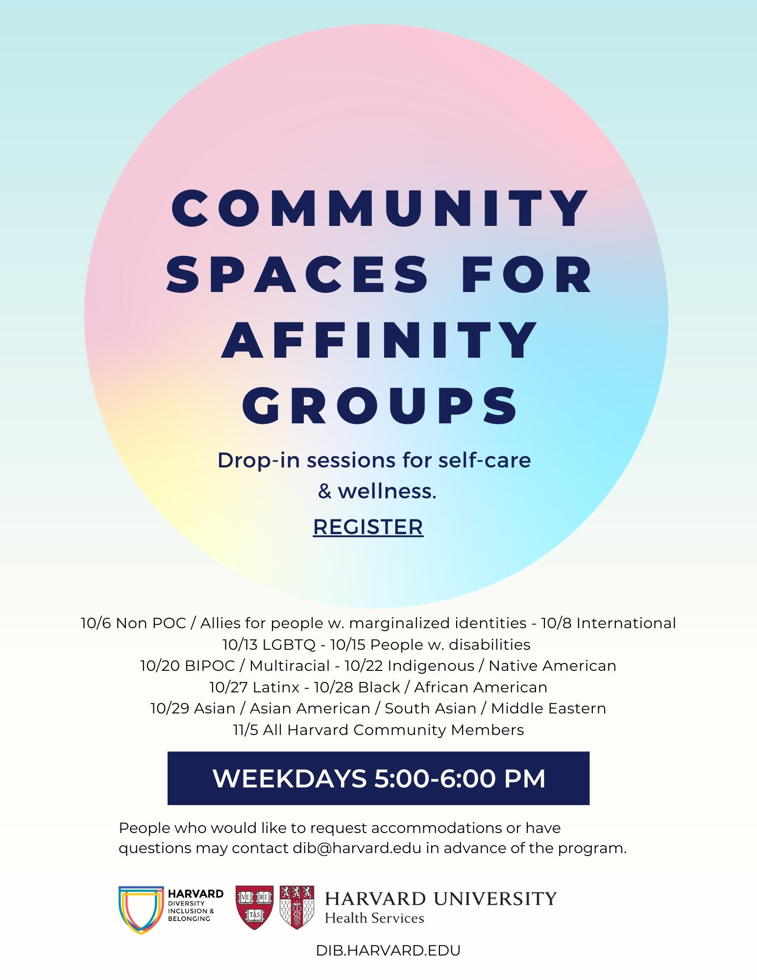 community spaces flyer