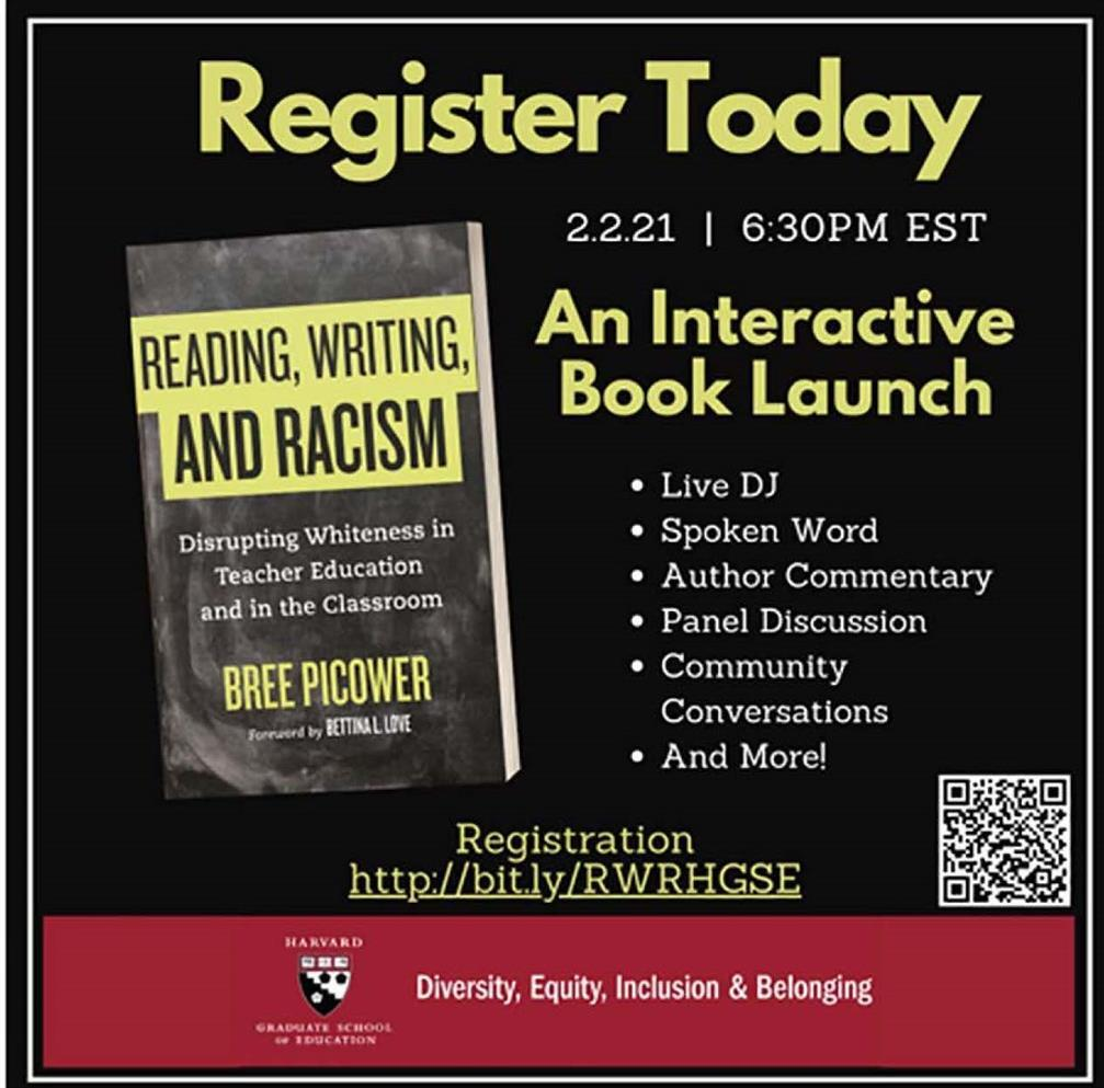 Cover of the book Reading, Writing, and Racism: drisrupting whiteness in teacher education and in the classroom in black letters, and bold yellow band.