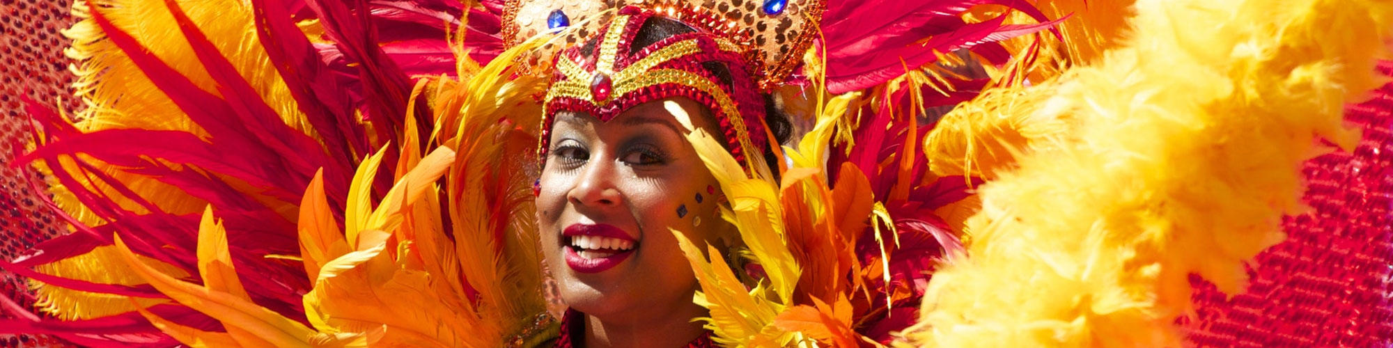Brazilian woman in carnival costume.