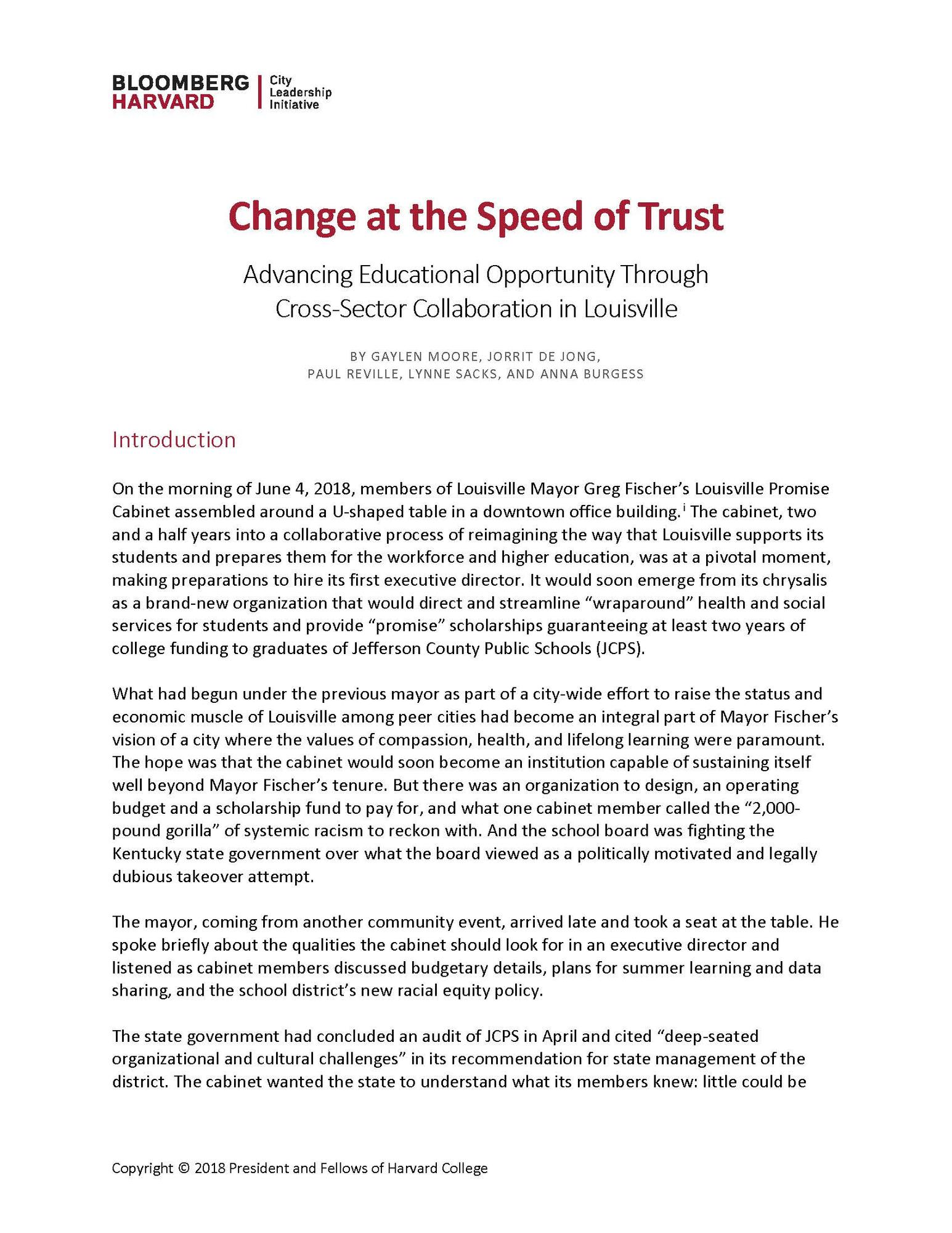 Change at the speed of trust thumbnail