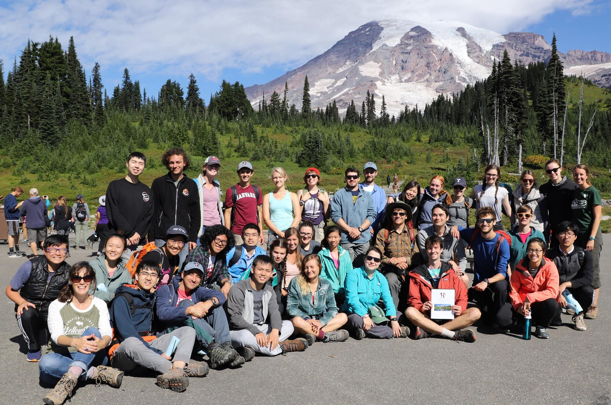 Photo of students at Mt. Ranier