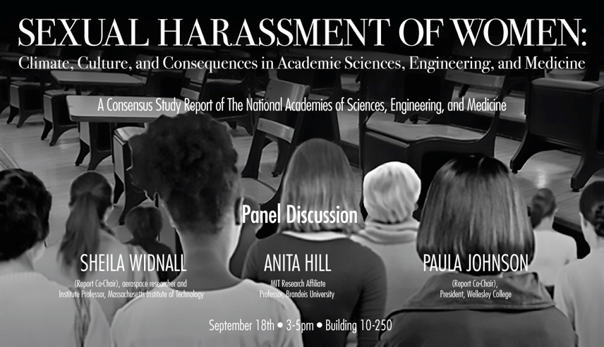 MIT Sexual Harassment of Women Event Poster
