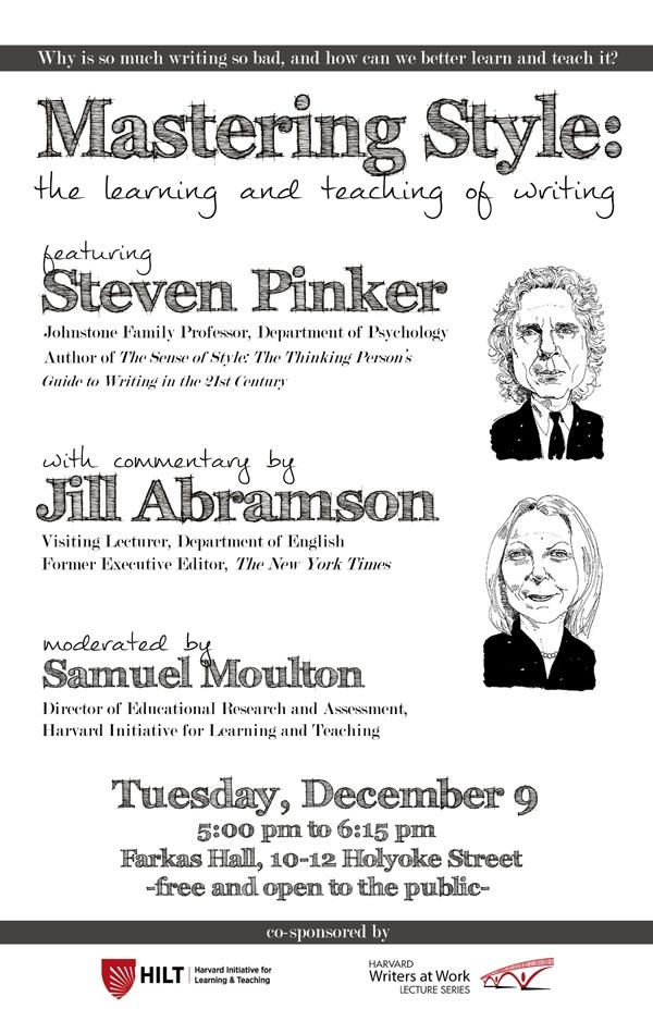 Mastering Style: The Learning and Teaching of Writing, December 9, 2014
