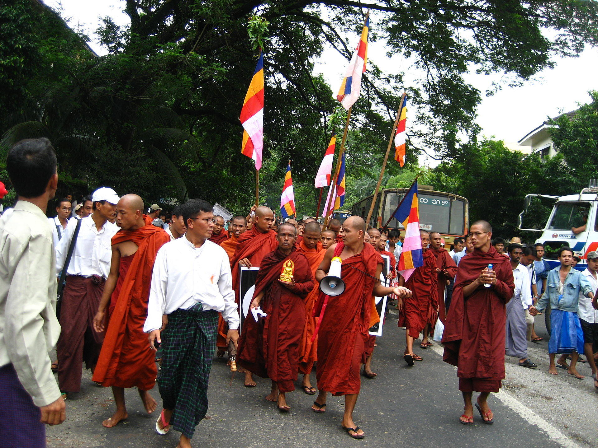Monks in Myanmar
