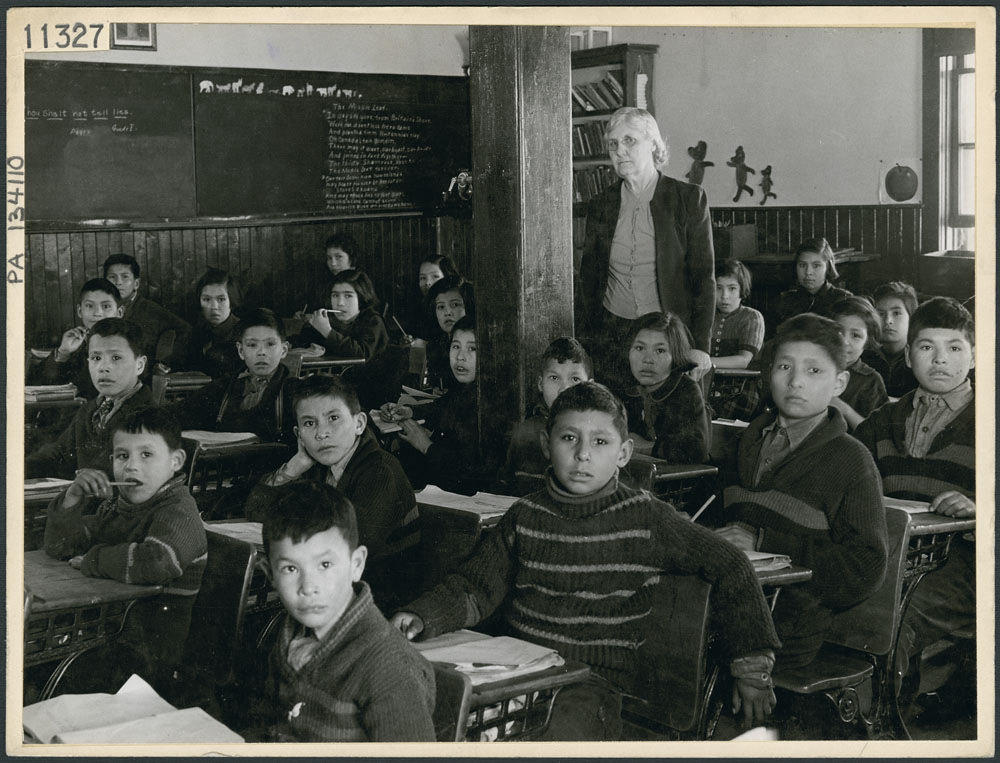 students at a residential school in canada