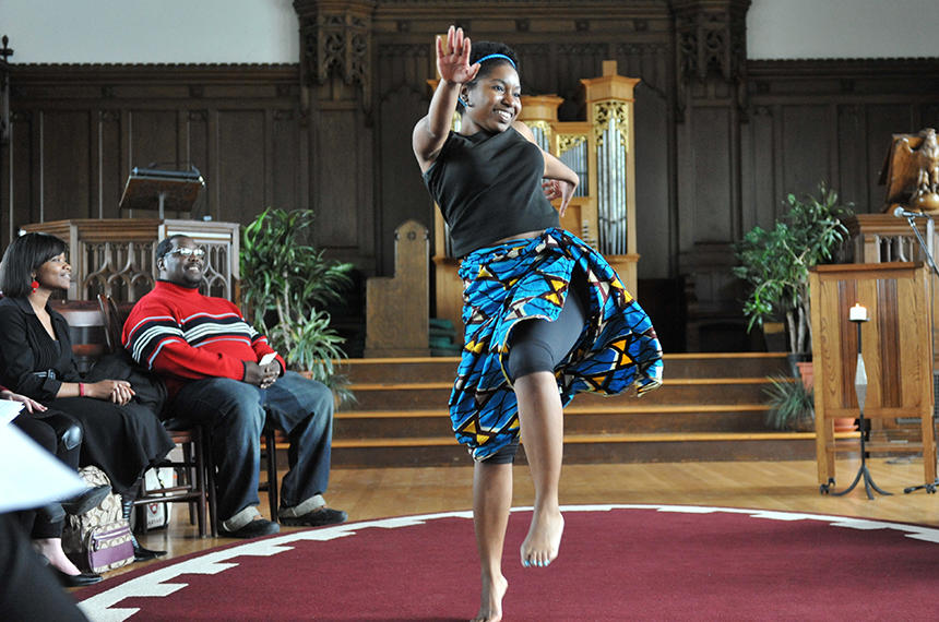 Black History Month Noon Service hosted by hosted by Harambee in 2012