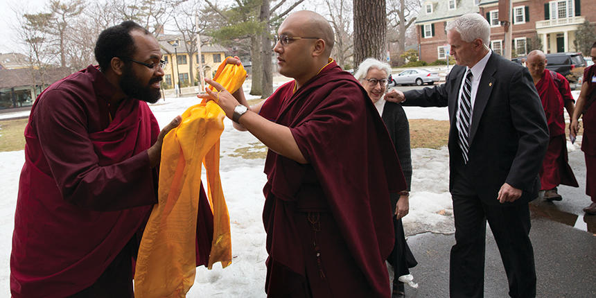 Lama Rod owens with His Holiness the 17th Karmapa