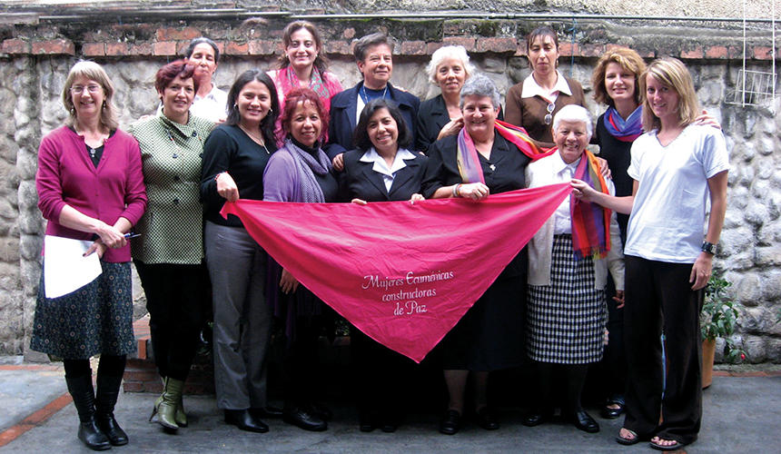 Susan Hayward, MDiv '07, In Bogotá, Colombia, With Members Of The Ecumenical Women's Peacebuilding Network (Gempaz)