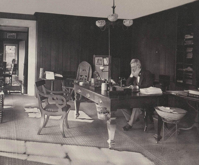 Asa Gray at his Desk